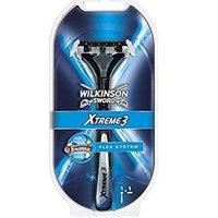 Wilkinson Sword Xtreme3 Razor Handle w/ 2 Refill Razor Blades (Same As Schick Xtreme 3 Razor) + FREE Schick Slim Twin ST for Dry Skin