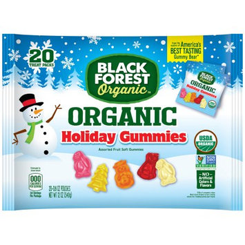 Black Forest Organic Holiday Gummy Candy, Assorted Fruit Flavors, 0.6 Ounces