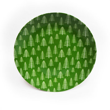 """8"""" Porcelain Dinner Plate - Christmas Tree"""