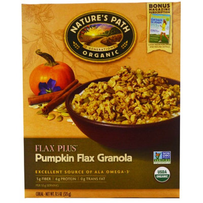 Nature's Path, Organic, Flax Plus, Pumpkin Flax Granola Cereal, 11.5 oz