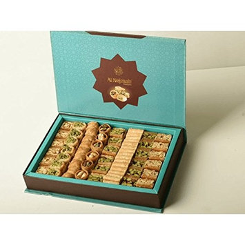 PT112 - Baklava Nuts Assorted (85-90 Pieces) (36 Oz Net, 3 lbs Gross, 12 inches x 8 inches x 2 inches) (Oglu) - Baklava Pastry Sweets in Very Classy Gift Box (Mix Baklava Nuts, 36 Oz Net, PT112)