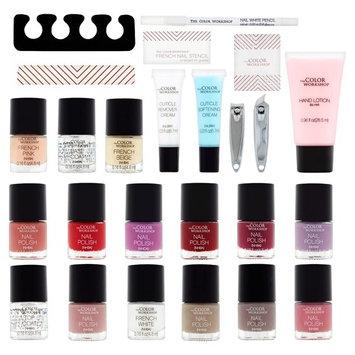 The Color Workshop Home Salon Nail Case, 26 pc