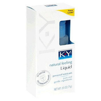 K-Y Personal Lubricant, Natural Feeling Liquid, 2.5-Ounce (71 g) (Pack of 3)