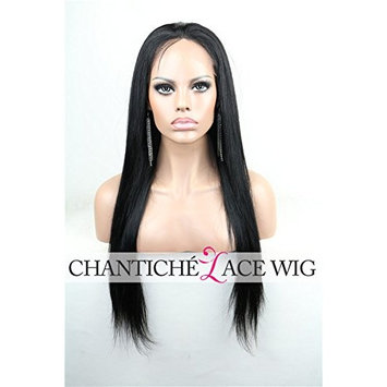 Chantiche Silky Straight Human Hair Wigs for Black Women, Lace Front Wig Human Hair with Baby Hair for Black Women 18inch Natural Color []