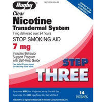 Rugby Clear Nicotine Transdermal System 7 mg 14 Count Pack of 2