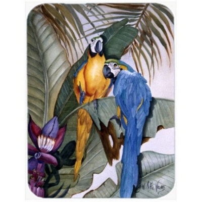 Caroline's Treasures Parrots Glass Cutting Board