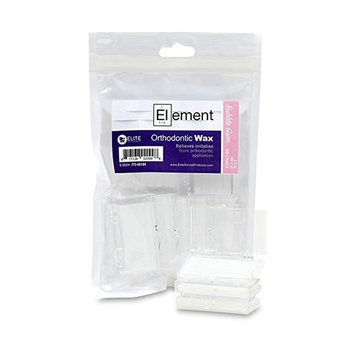 Element Dental Orthodontic Wax 10 Pack-10 Colors/scents Available! (White / Bubble Gum)