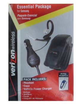 Verizon Leather Case, Car Charger, and Jabra Earwave Boom Headset for Samsung SCH-A630 (Bundle)