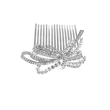 Style Silver-base metal Bow Designed Hair Clips Hair Accessories