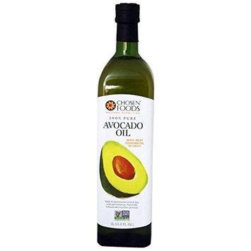 Chosen Foods 100% Avocado Cooking Oil, 1L Bottle (33.8fl)