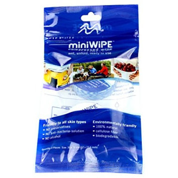 2pcs Disposable Mini Compressed Cotton Wipe for Camping/Home/Travel/Beauty Salon/Sport