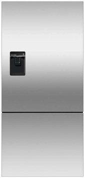 Fisher & Paykel RF170BLPUX6 Bottom Mount Counter Depth Refrigerator with 17.6 Cu. Ft. Total Capacity Ice and Water Dispenser Left Hinged Door Door Storage and Pocket Handle