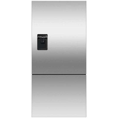 Fisher & Paykel RF170BLPUX6 Bottom Mount Counter Depth Refrigerator with 17.6 Cu. Ft. Total Capacity Ice and Water Dispenser Left Hinged Door Door Storage and Pocket Handle