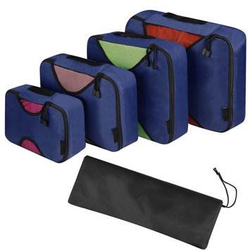 4 Pieces Organizer Bag Travel Packing Bag Cubes Set Case For Shoes Cloths Cosmetics SMT