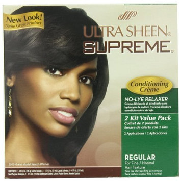 Ultra Sheen Supreme No Lye Regular Relaxer Kit, Value Pack, by Ultra Sheen
