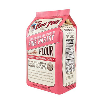 Bob's Red Mill Unbleached White Fine Pastry Flour, 5 Pound (Pack of 4)