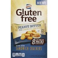Lance Gluten-Free Mini Sandwich Crackers - Peanut Butter, 1 Oz Single Serve Bag, 8 Ct