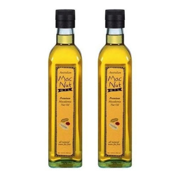 MacNut Oil Macadamia Nut Oil 8.5 oz (Pack of 2) in a Prime Time Direct Sealed Bag