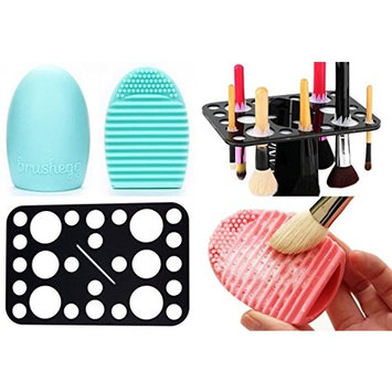 Makeup Brush Cleaner Finger Brush Cleaner Scrubber and Makeup Brush Stand Holder Kit