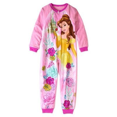 Beauty And The Beast AE Disney Princess Girls' Blanket Sleeper Pajama