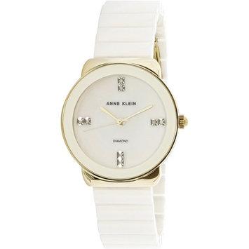 Anne Klein Women's AK-2714WTGB Silver Ceramic Quartz Fashion Watch