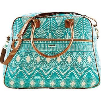 Bella Taylor Tahiti Teal Weekender Bag Overnight Case Travel Bags Small Suitcase Handbags 14.75x20x11