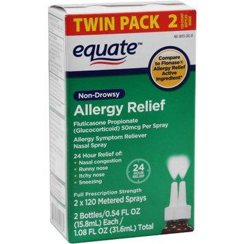 Perrigo Equate Non-Drowsy Allergy Relief Nasal Spray, .54 fl oz, 2 pk