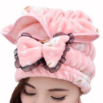 Scala New Cute Shower Caps Textile Microfiber Hair Turban Quickly Dry Hair Hat Wrapped Towel Bath