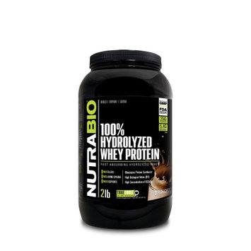 Nutra Bio NutraBio Hydrolyzed Whey Protein Powder, Chocolate, 2 Lb