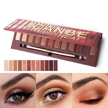 Alonea 12 Colors Shimmer Matte Eyeshadow Eye Shadow Palette Cosmetic Brush Set