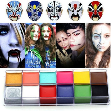 Zinnor 12 Colors Professional Drama Face Body Paint Oil Make Up Painting Party