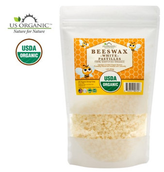 Us Organic 100% Pure Certified USDA Organic Beeswax White Pastille 16oz