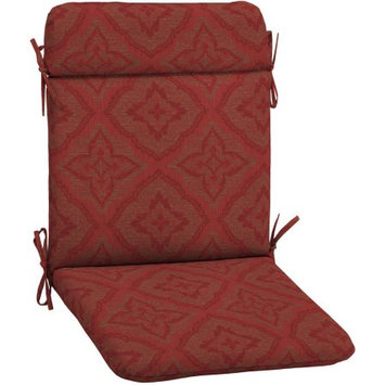 Arden Companies Better Homes and Gardens Outdoor Patio Wrought Iron Chair Pad, Red Medallion Woven