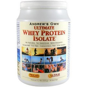 Andrew Lessman Ultimate Whey Protein Isolate - Unflavored, 100 Servings