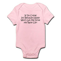 CafePress - My Daddys Race Car Infant Bodysuit - Baby Light Bodysuit