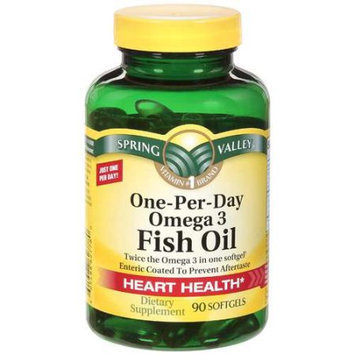 Spring Valley One-Per-Day Omega 3 Fish Oil Dietary Supplement 90 ct