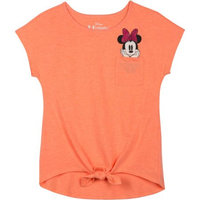 Minnie Mouse Ap Minnie Tie Front Bow Pocket Top