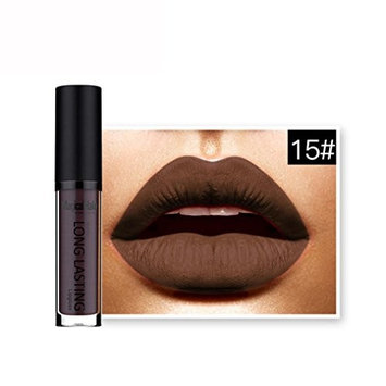 KESEE Waterproof Matte Liquid Lipstick Long Lasting Lip Gloss Lipstick (O)