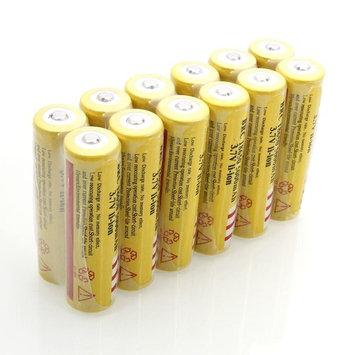 12-packs E-shinre 3.7v button top 18650 5000mah Rechargeable Li-ion Battery (yellow)