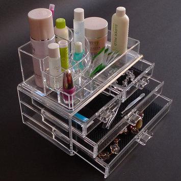 Felji Large Acrylic Jewelry & Makeup Organizer with 4 Drawers 1157