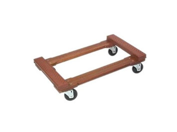MONSTER TRUCKS MT10002 Wood 4-Wheel Piano Rubber Cap Dolly