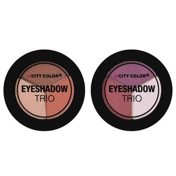 City Color B-0037 Eyeshadow Trio - Pack of 2