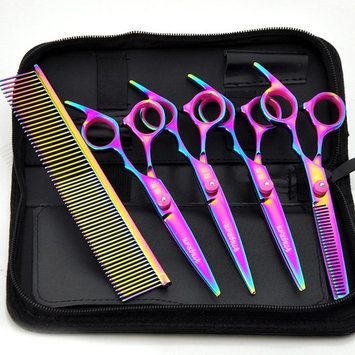 6 inch 4PCS pet scissors set stainless steel thinning scissors