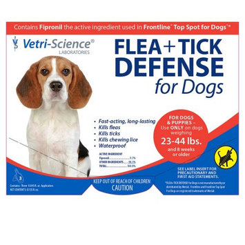 Vetri-science 3 Month Supply of Flea & Tick Defense: Dogs / 23-44lbs