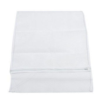 Zipper Closure Design White Nylon Mesh Bags Clothes Holders for Washer