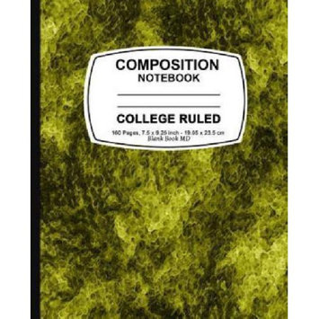 Createspace Publishing Composition Notebook: Yellow Marble, College Ruled, Lined Composition Notebook, 7.5 x 9.25, 160 Pages For for School / Teacher / Office / Student Composition Book