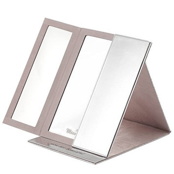 Miss Sweet Tri-Fold Makeup Mirror Travel Mirror Handmade 16.5
