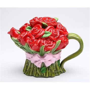 Cosmosgifts Red Rose 0.41-qt. Teapot