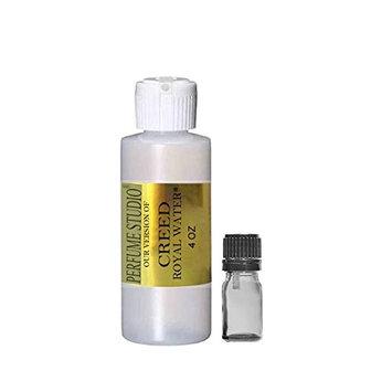 Wholesale Body Oils; Perfume Studio Premium IMPRESSION Perfume Oil, SIMILAR Fragrance Accords to Designer Brand, 100% Pure No Alcohol, Free 5ml Empty Glass EuroDropper (CREED ROYAL OUD VERSION, 4 OZ)