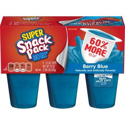 Conagra Brands Super Snack Pack Berry Blue Juicy Gels, 5.5 Ounce (6-Count)